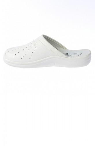 White Summer Slippers 20YTERMuya00004_A