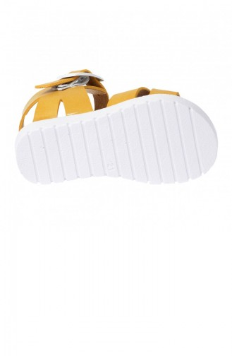 Polaris 91508159 Günlük Plaj Havuz Kızerkek Çocuk Sandalet Terlik Sarı 20YSANPOL000002_SA