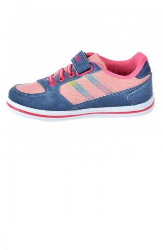 Polaris 91509314 Günlük Cırtlı Kız Çocuk Spor Ayakkabı Mavi 20YSPORPOL00001_MV