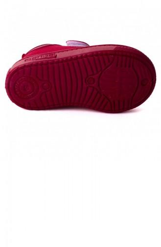 Sanbe 401 R 001 Anatomik Erkekkız Çocuk Keten Ayakkabı Kırmızı 20YSANSAN000005_KR