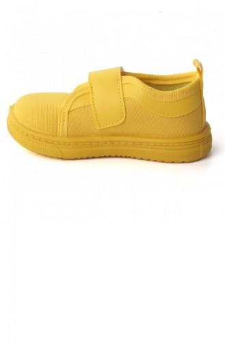 Sanbe 401 R 001 Anatomik Erkekkız Çocuk Keten Ayakkabı Sarı 20YSANSAN000005_SA
