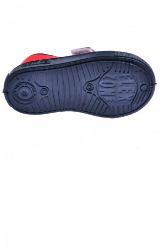 Sanbe 401 R 004 Anatomik Erkek Çocuk Keten Ayakkabı Kırmızı 20YSANSAN000003_KR