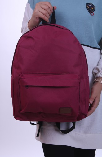 حقيبة ظهر ارجواني داكن 0042-05