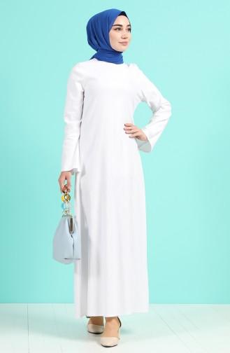 Robe Hijab Ecru 1412-03