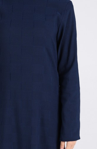 Robe Hijab Bleu Marine 1412-04