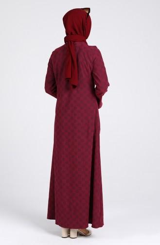 Robe Hijab Bordeaux 1413-03
