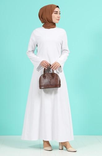 Robe Hijab Ecru 1413-05