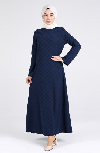 Navy Blue İslamitische Jurk 1413-07