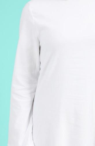 Patterned Dress 1413a-01 Ecru 1413A-01