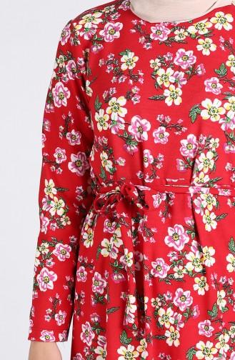 Robe Hijab Rouge 5709T-04