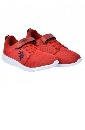 Us Polo Assn Honey Günlük Kızerkek Çocuk Spor Ayakkabı Kırmızı 20YPOLOHoney_100241285