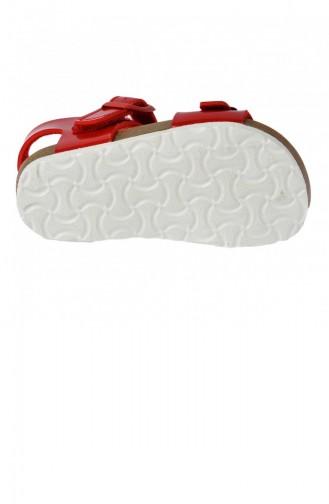 Vicco 32120Y359 Bonbon Kızerkek Çocuk Sandalet Terlik Kırmızı