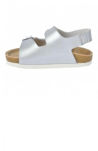 Vicco 32120Y360 Günlük Erkek Çocuk Sandalet Terlik Gümüş 20YSANVIC000003_Gu