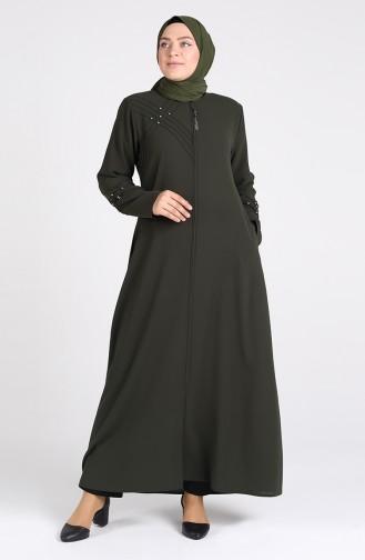Khaki Abaya 0108-03