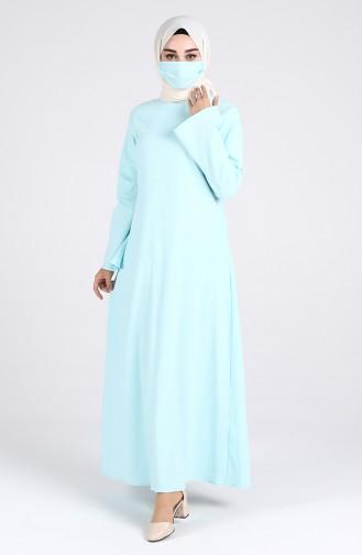 Babyblau Hijap Kleider 1411-05