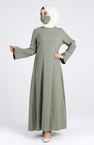 Robe Hijab Vert noisette 1411-06