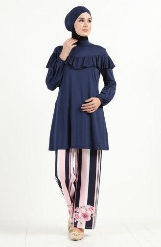 Navy Blue Swimsuit Hijab 2012