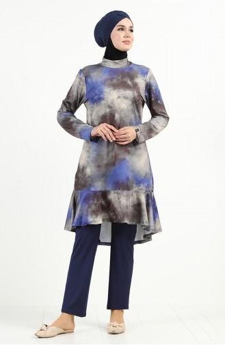 Navy Blue Swimsuit Hijab 2022