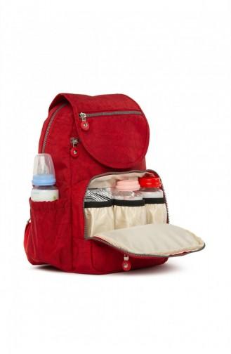 Bagmori Paraşüt Kumaş Anne Bebek Bakım Çantası M000005113 Kırmızı