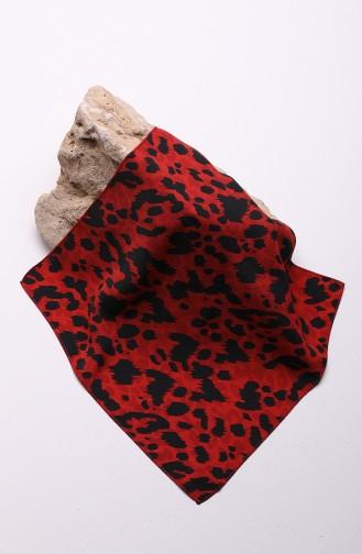 وشاح حريري أحمر 60641-01