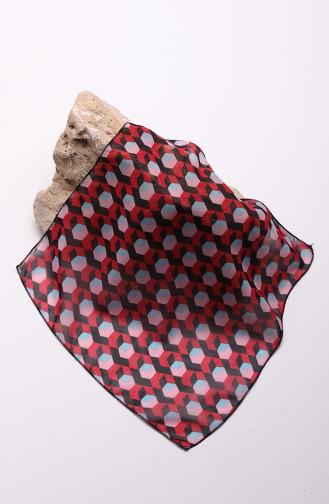 وشاح حريري أحمر كرزي 61601-01