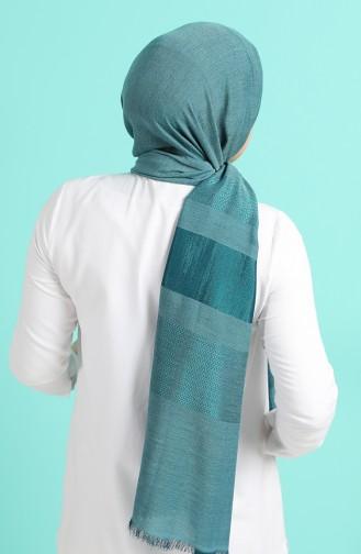شال أزرق زيتي 13189-19