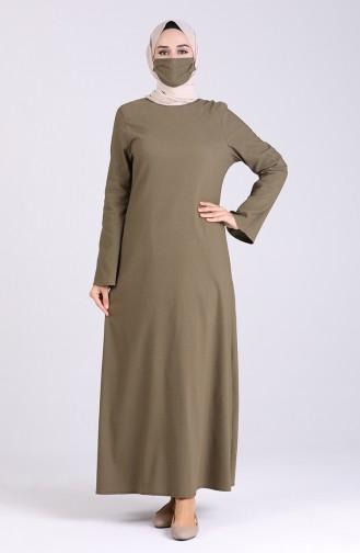 Robe Hijab Khaki 1411-01