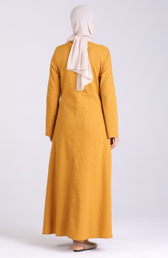 Robe Hijab Moutarde 1411-07