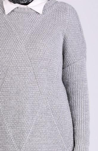 Grau Pullover 4238-04