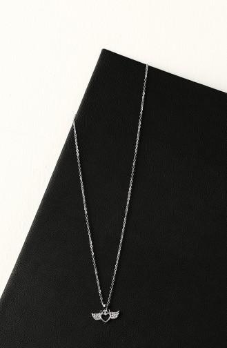 Silver Gray Necklace 030