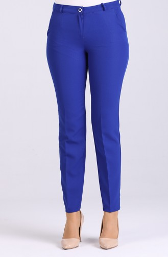 Classic Trousers with Pockets 1085-01 Saxe Blue 1085-01