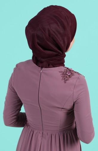 Lila Praktischer Turban 1143-01