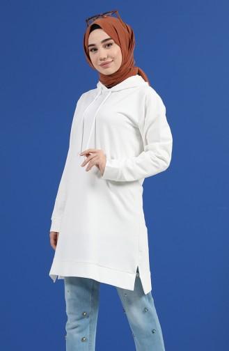 Sweatshirt Ecru 20044-02