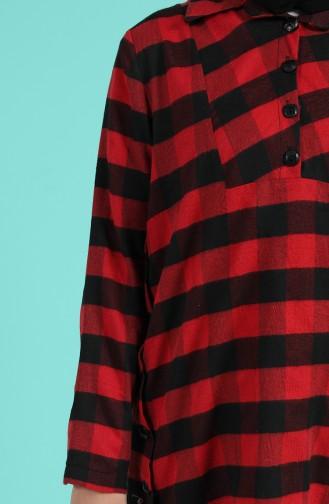 قميص أحمر كلاريت 5573-04