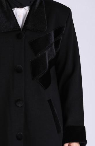 Schwarz Mantel 0409-01