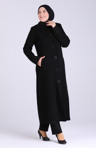 معطف طويل أسود 0603-01