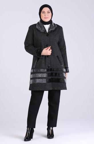 معطف طويل فحم الإنتراسيت 0806-01
