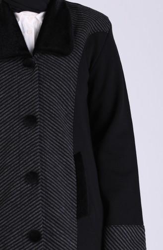 معطف طويل أسود 0810-02