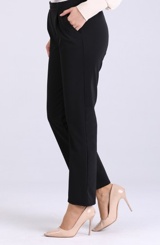 Pileli Pantolon 4283PNT-01 Siyah