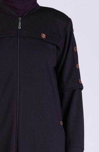 معطف فوقي أرجواني 5066-01
