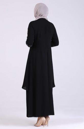 فساتين سهرة بتصميم اسلامي أسود 2021-02