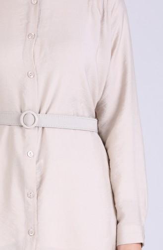 Kemerli Tunik Pantolon İkili Takım 1078A-07 Taş