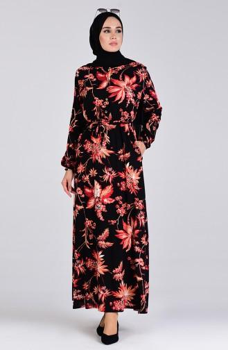 Robe Hijab Rouge 6002B-01