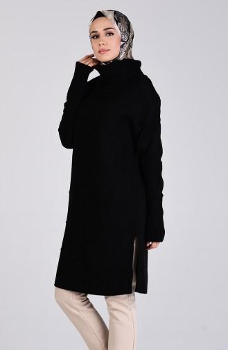 Triko Boğazlı Tunik 4250-02 Siyah
