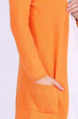 Orange Strickjacke 1463-03