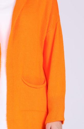 Orange Strickjacke 1471-01