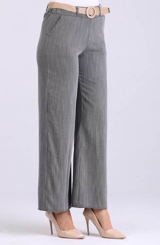 Belted Linen Trousers 7067-01 Smoked 7067-01