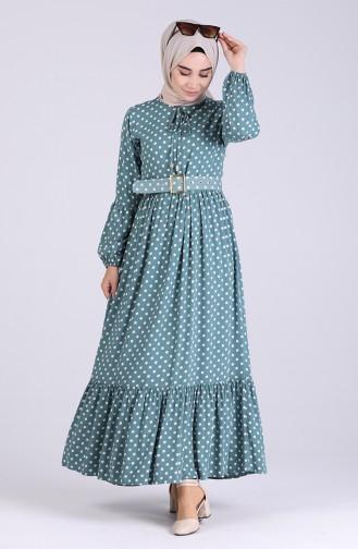 Green İslamitische Jurk 4554-03