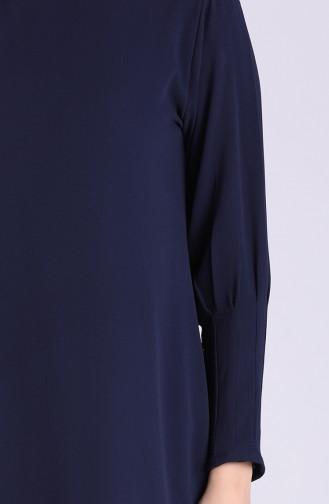 Sleeve Detailed Tunic 4603-02 Navy Blue 4603-02