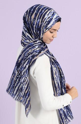 Navy Blue Sjaal 10051-03